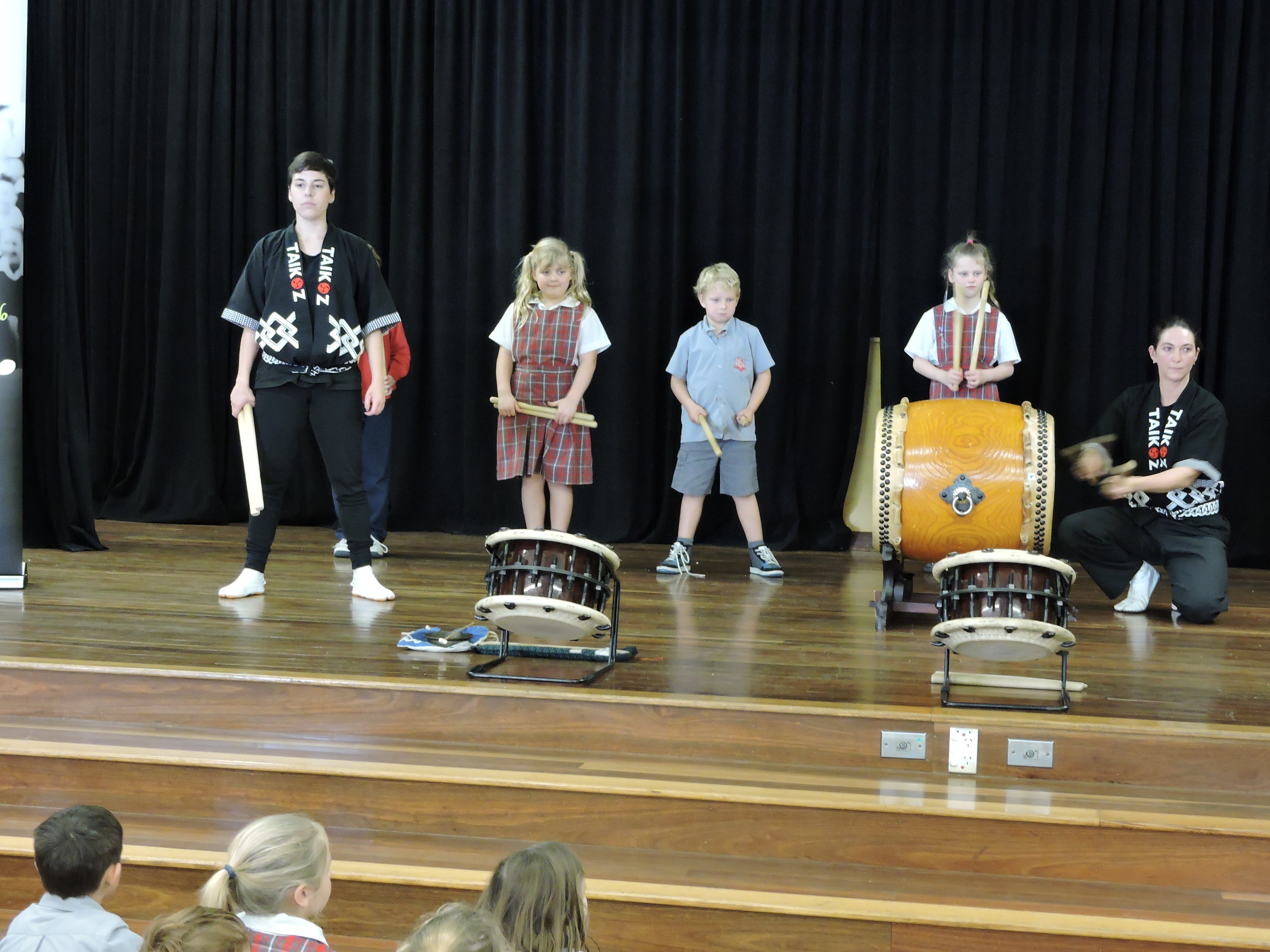 drumming with students